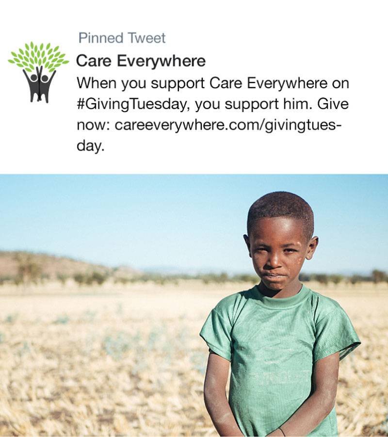 Giving Tuesday Twitter Post Template
