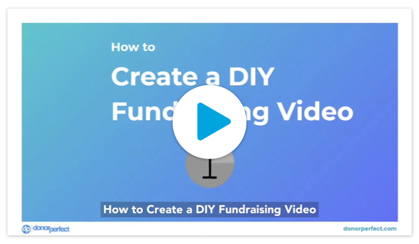 How to create a diy fundraising video