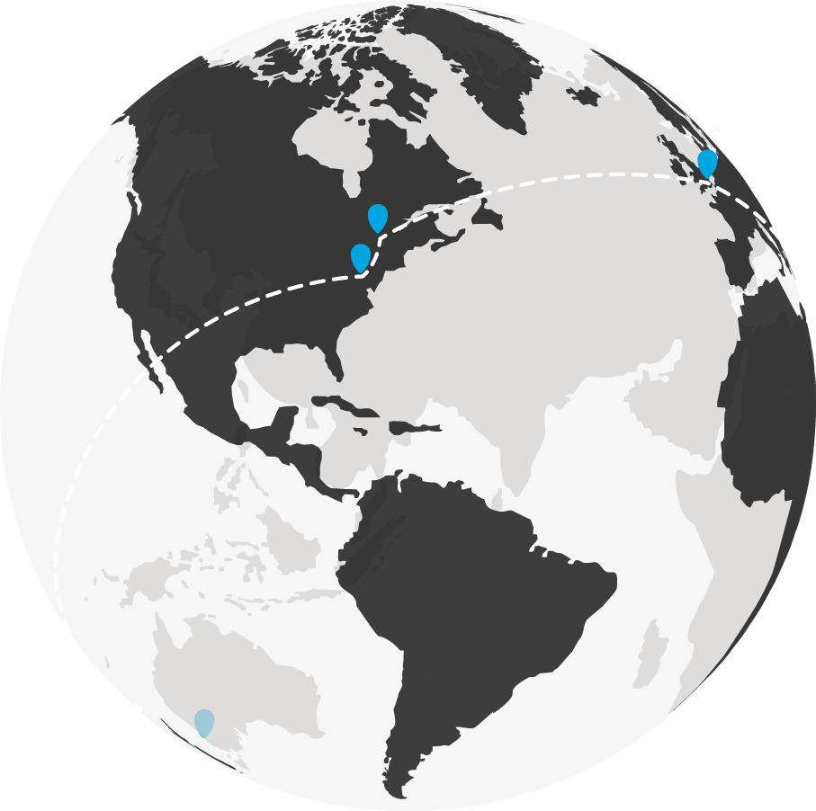 DonorPerfect International Offices Map