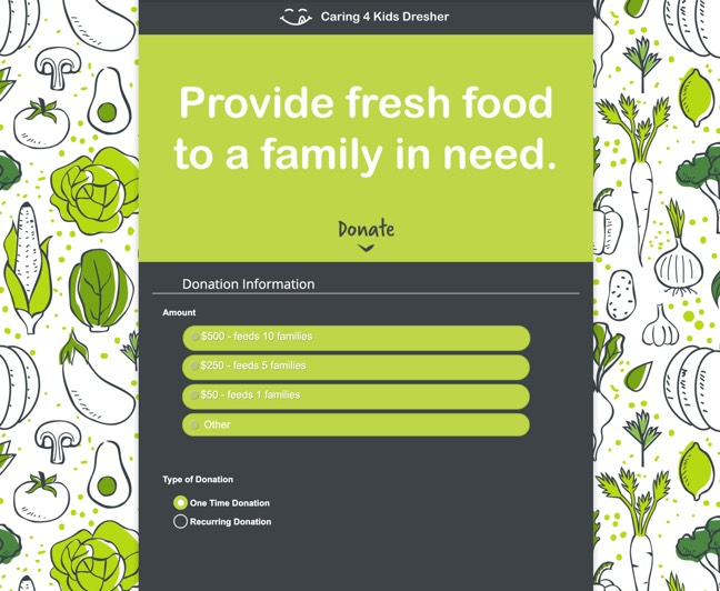 fundraising form example