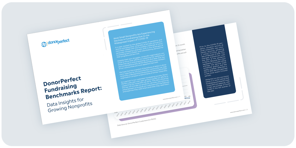 DonorPerfect Fundraising Benchmarks Report Mockup