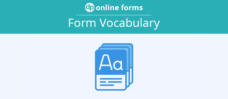 Form Vocabulary