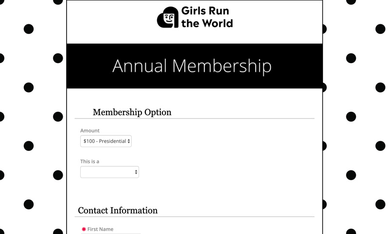 register and renew memberships form
