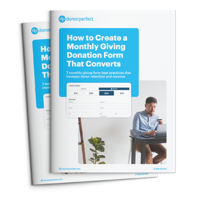 How to create a monthly giving donation form that converts