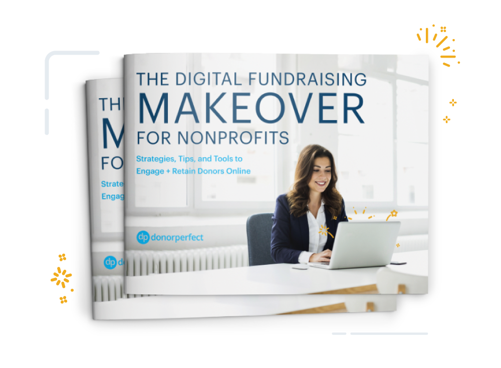 Image of book cover titled The Digital Fundraising Makeover For Nonprofits
