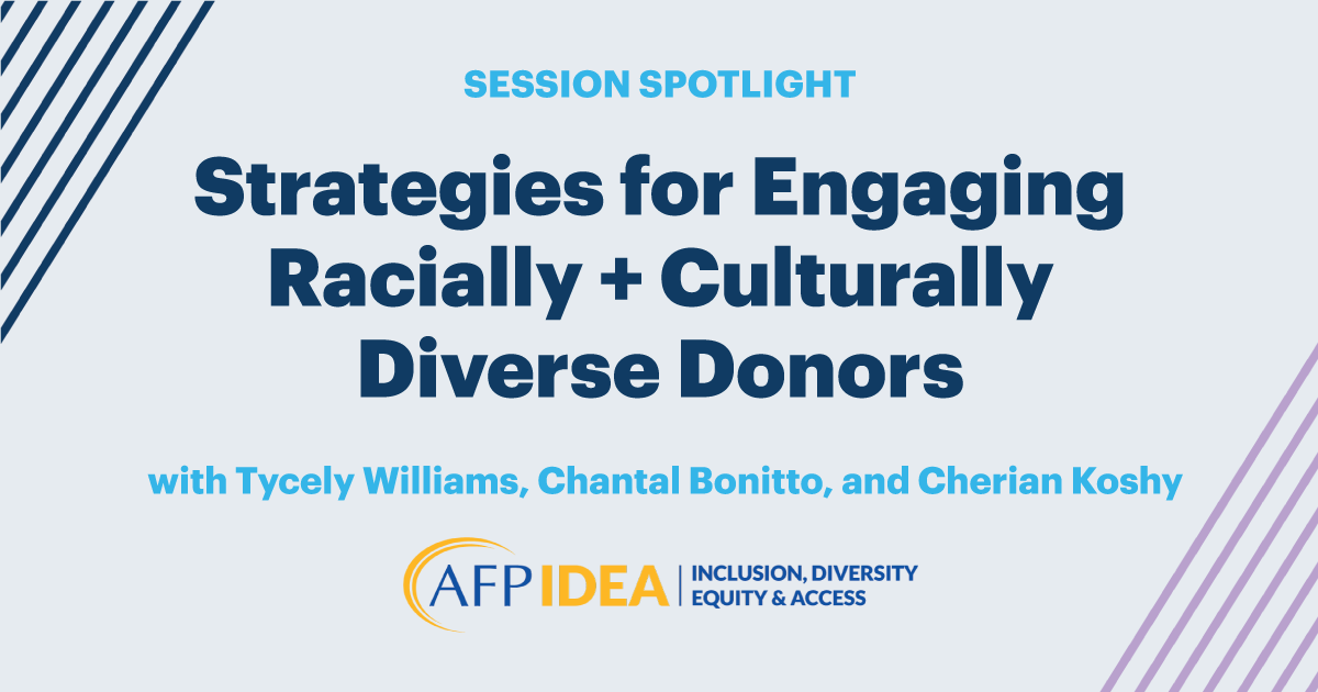 DonorPerfect CommUNITY conference Strategies for Engaging Racially + Culturally Diverse Donors