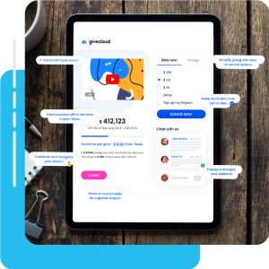 snapshot of Givecloud fundraising solution