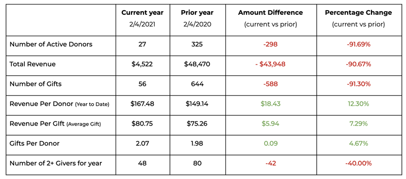 Comprehensive Donor Revenue Analysis report