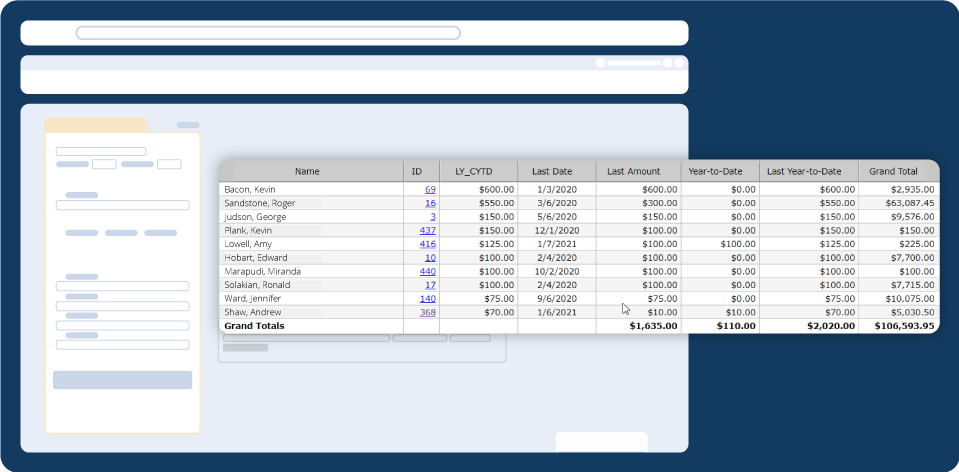 Screenshot: Top Donors Report from DonorPerfect Fundraising CRM Software