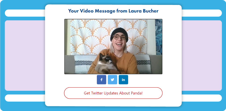 Screenshot: DonorPerfect's DP Video feature for sending donor thank yous