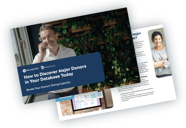 How to Discover Major Donors in Your Database Today Ebook Mockup