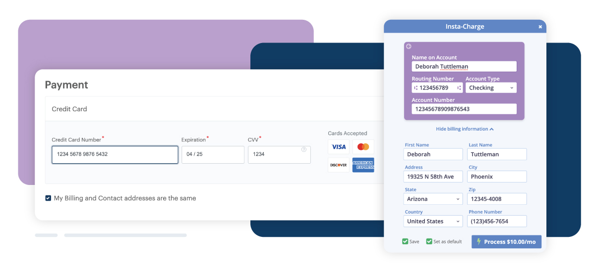 examples of payment options for monthly giving