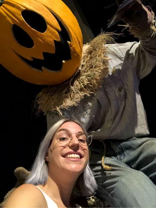 pumpkin man and Laura