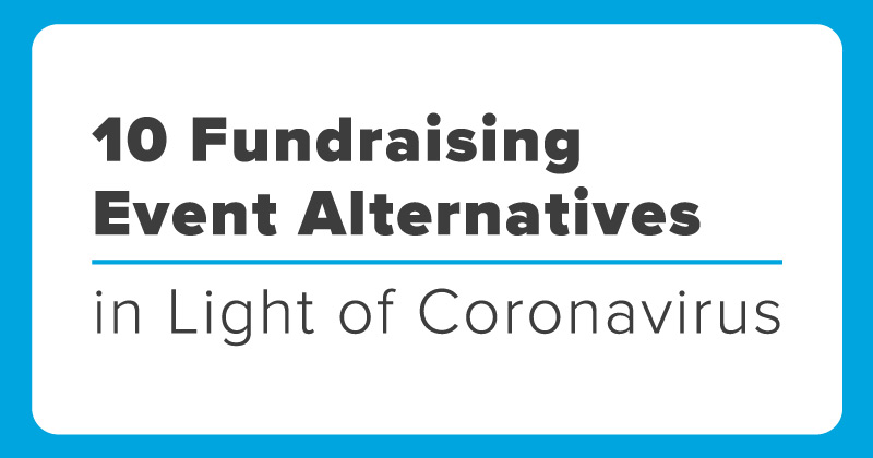 Ten fundraising event alternatives to try in light of coronavirus (COVID-19) Logo