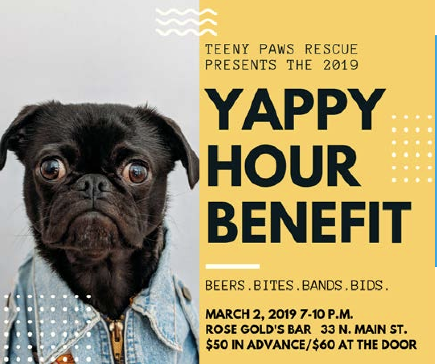 Yappy Hour Benefit