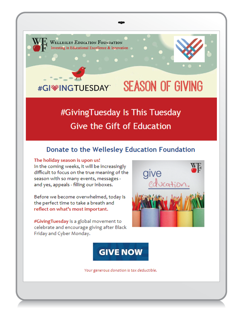 GivingTuesday Fundraising Email Example