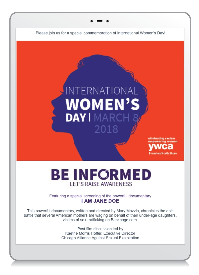 International Women's Day Fundraising Email Example