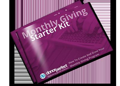 monthly giving starter kit