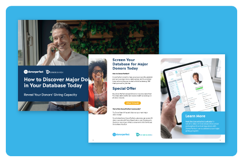 How to Discover Major Donors in Your Database Today Mockup