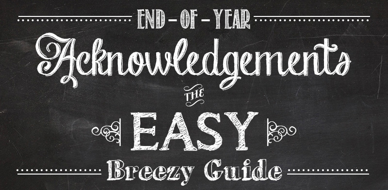 Our end of the year guide to getting the most from your donor acknowledgements