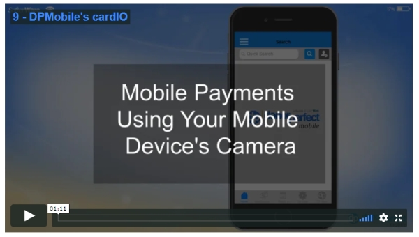 Video about how to collect mobile donations using your mobile device's camera.